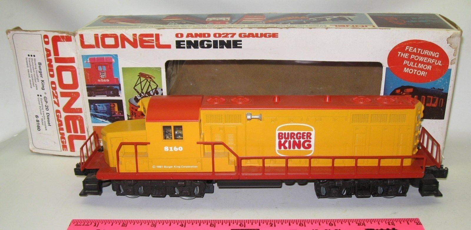 Lionel 6-8160 Burger King Gp-20 Diesel