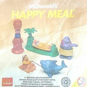 McDonalds-Happy-Meal-Toy-1996-McDonaldland-Island-Holiday-Figures-Various