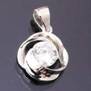 1-Ct-Round-Cut-Solitaire-Diamond-Pendant-Charm-Jewelry-Gift-SOLID-14k-White-Gold
