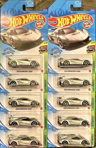 2020 Hotwheels 2020 Koenigsegg Jesko Lot Of Ten 10 NIB VHTF