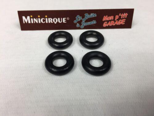 DO3 - Lot de 4 pneus 835 noirs lisses pour Simca Cargo fourgon 33A Dinky Toys
