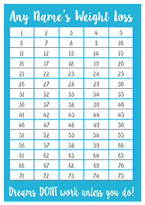 A4-Personalised-Weight-Loss-Chart-75lbs-Laminated-with-1-sheet-of-stickers