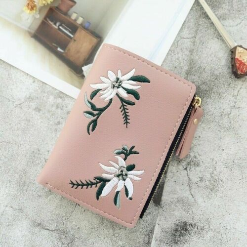 Women Short Small Money Purse Wallet Ladies PU Leather Folding Coin Card Holder
