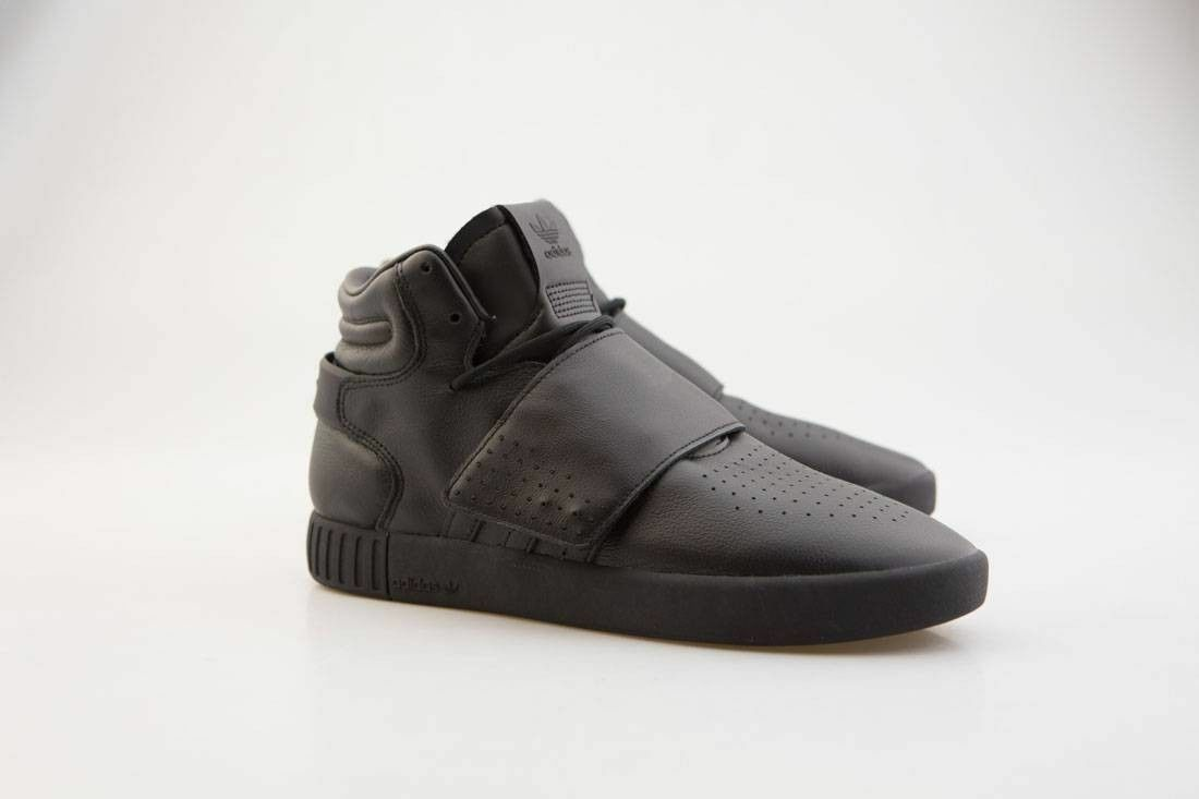 Adidas BW0871 BW0871 BW0871 Black Leather Tubular Invader Strap Yeezy Casual Sneakers shoes 10 dadea8