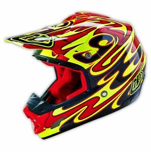 Details About Troy Lee Designs Tld Se3 Off Road Helmet Reflection Yellow Multi Medium New