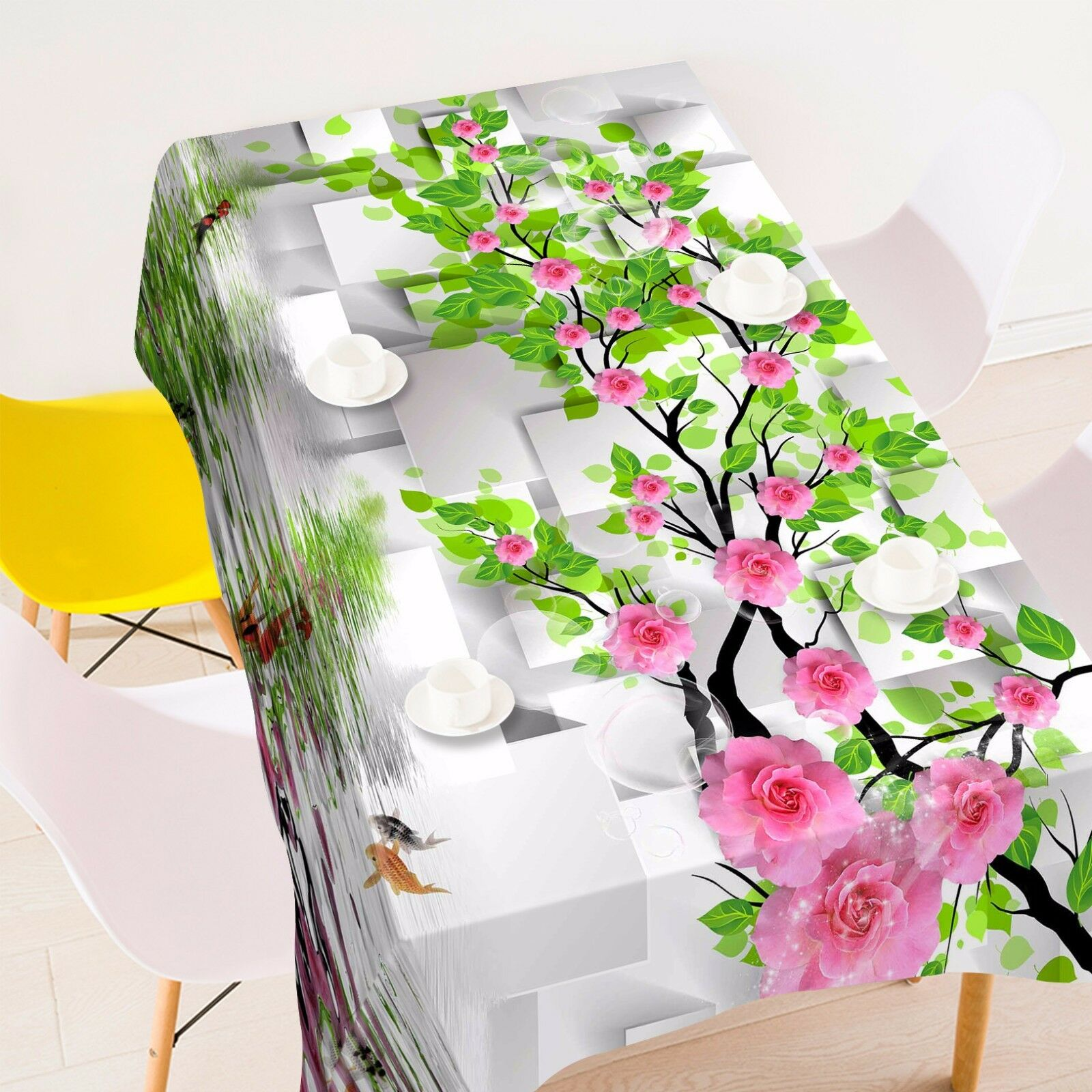 3D Flower 4402 Tablecloth Table Cover Cloth Birthday Party Event AJ WALLPAPER AU