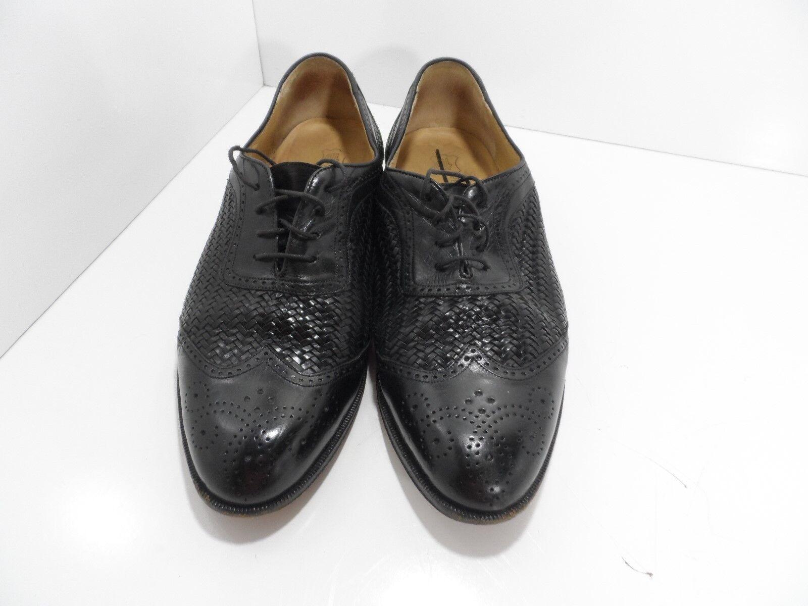 Peter Huber Designer Shoes Mens Black Leather Oxford Shoes Designer - Size 10.5M - VGC 02951d