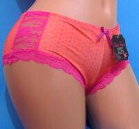 Black Fuchsia Orange Pink Lace Booty Boy Shorts Sissy Bikini Panties S M L Xl