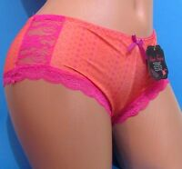 Black Fuchsia Orange Pink Lace Booty Boy Shorts Sissy Bikini Panties S M L Xl