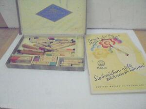 Stetig 26516 Pelikan Stoff Malstifte Wagner Nr Malen 41 C 1925 Prospekt Unkomplett Colors