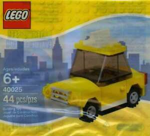 LEGO-40025-NEW-YORK-CITY-TAXI-CAB-YELLOW-POLYBAG-NEW-REITRED-LA012