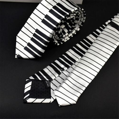 For Men Fancy Dress Black /& White Piano Keyboard Necktie Skinny Tie Music Tie