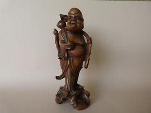 sculpture statuette bois sculpté Chine Indochine XIXe San Xing Shou Xing Chinese