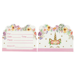 Details About 10pcs Invitations Cards Cards Kids Birthday Wedding Party Invitations Jb