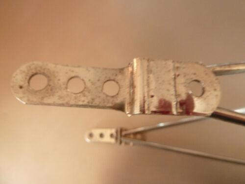 velo ancien porte bagages acier chromé F.FIOL H=36 cm L 37x8 cm enfant pliable