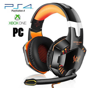 Pro-Gamer-PS4-Headset-for-PlayStation-4-Xbox-One-amp-PC-Computer-Orange-Headphones