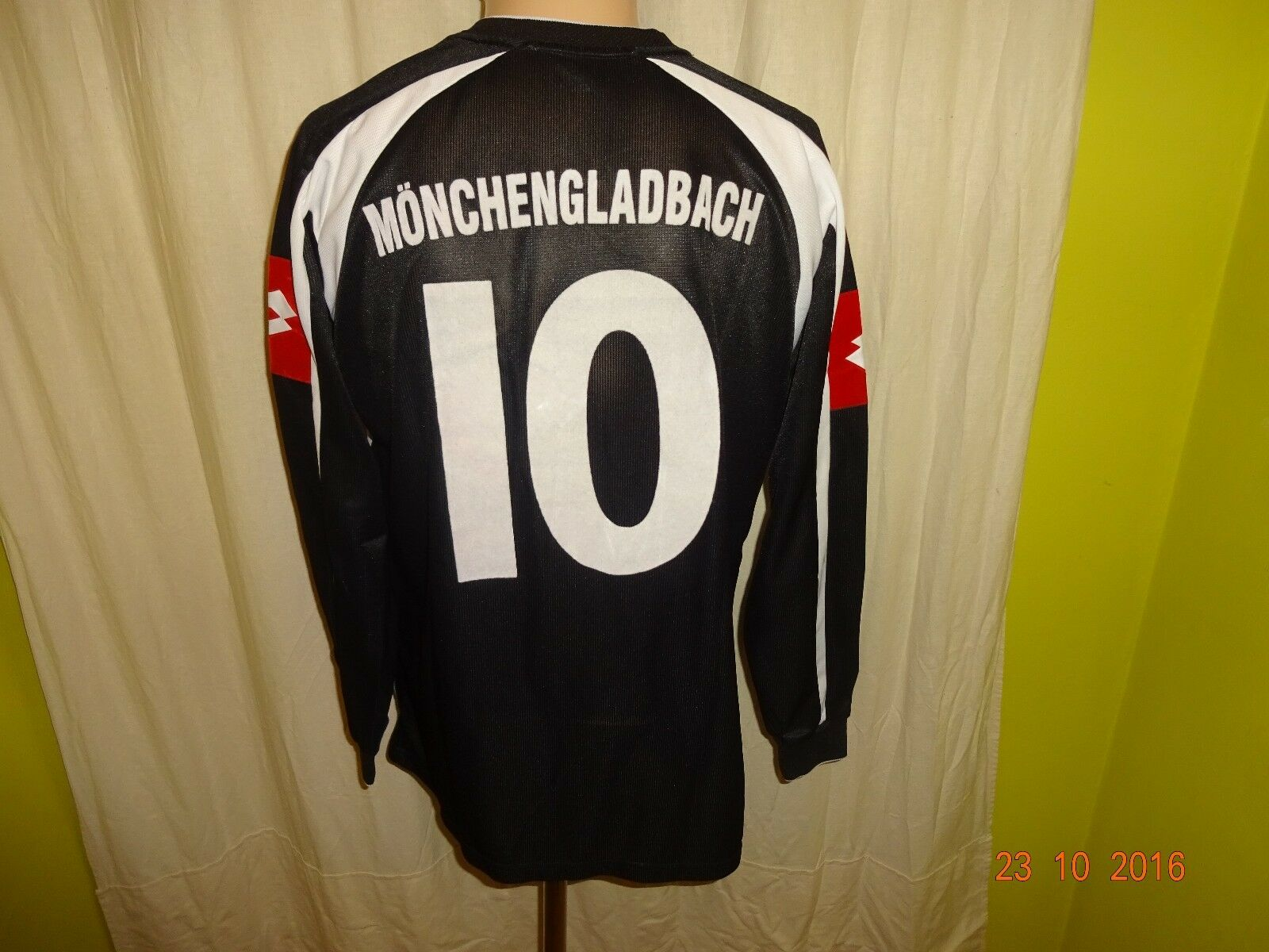 Borussia Mönchengladbach Lotto Lotto Lotto Langarm Matchworn Trikot 2005 06 + Nr.10 Gr.M 8170fd