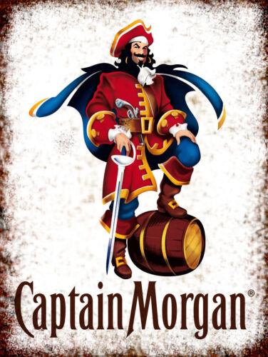 Captain Morgan Rum retro vintage metal sign