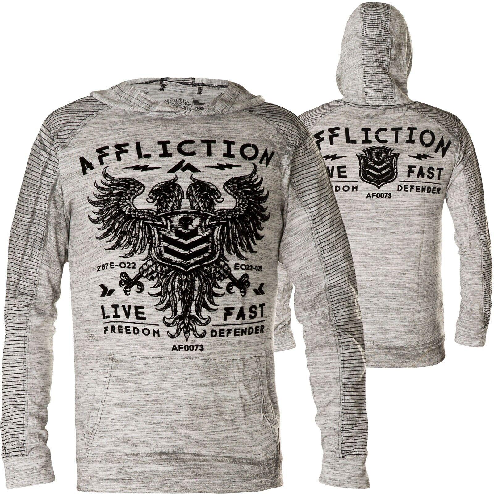 AFFLICTION Hoody Value kostenlosdom Dusk Weiß Hoodies Herren  schweißhemds mit