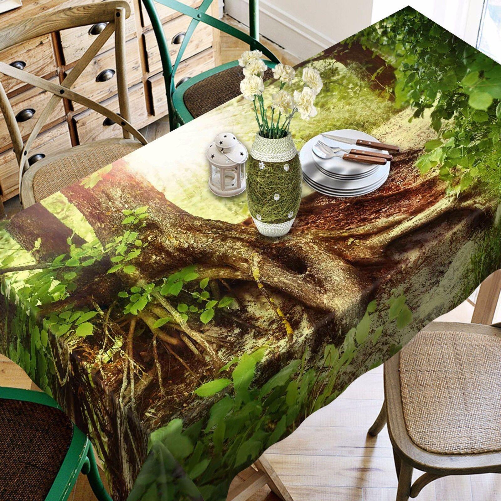 3D tree root 9 Nappe Table Cover Cloth Fête D'Anniversaire événement AJ papier peint UK
