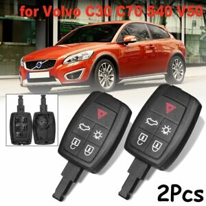 2x 5button keyless entry car remote key fob shell case for volvo c30image is loading 2x 5button keyless entry car remote key fob
