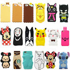 Cute Disney Soft Silicone Cover Case For iPhone 5/6/7 Samsung S3/4/5/6/7 N3/4/5
