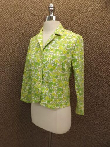 estate a '50 New Vtg giacca primavera 1950 in anni cotone cardigan corto da Nos Giacca floreale S wZgqX7Z