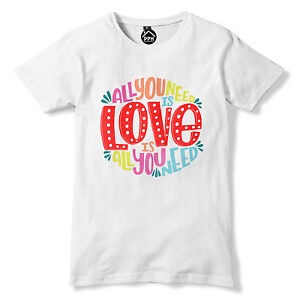 All You Need Is Love Music T Shirt Bible Quote Song Lyric Top Mens