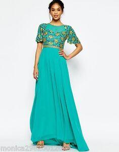 c7c5fb415d3 VIRGOS LOUNGE GREEN WEDDING EVENING PARTY MAXI DRESS UK 8 10 12 RRP ...