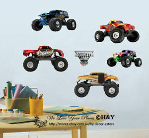 Monster-Jam-Trucks-Boys-Wall-Sticker-Kids-Decal-Art-Nursery-Decor-Mural-Gift-DIY