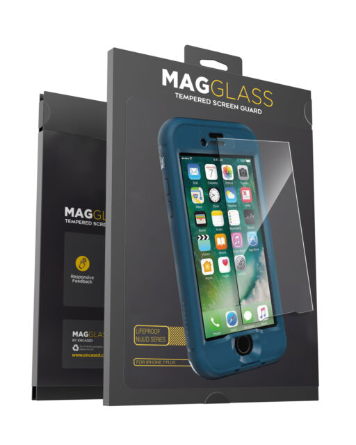 on sale 3630c 4e663 For iPhone 7 Plus Lifeproof Nuud Case Tempered Glass Screen Protector