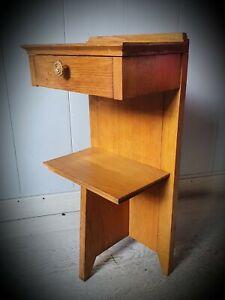 Rare-Small-Furniture-1950-Make-up-Primer-Chevet-End-Of-Sofa-1-Drawer-1-Tablet