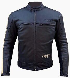 Giacca-Giubotto-Moto-Uomo-Donna-Pelle-Protezioni-CE-Sfodrabile-2-Giacche-Offerta