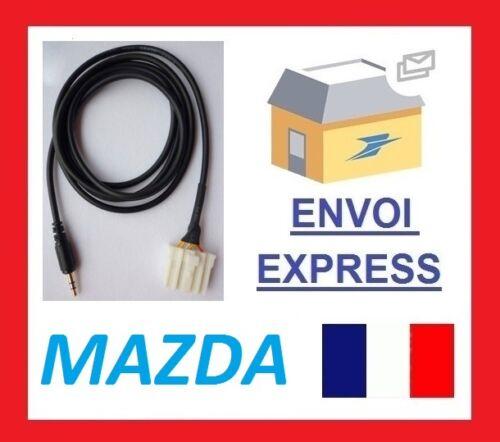 Cable auxiliaire adaptateur mp3 iphone autoradio Mazda 6 M3 M6 Pentium b70