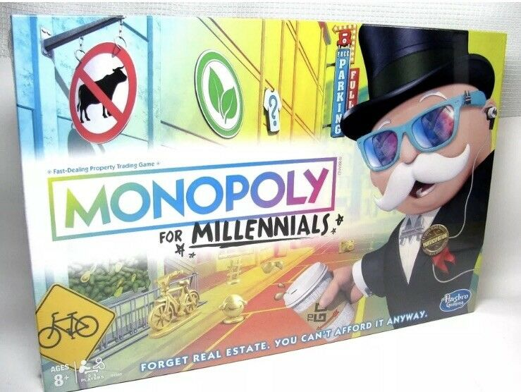 Monopoly for Millennials Board Game OOS Hot X-Mas Game Game Game Fast Shipping 93c9f4