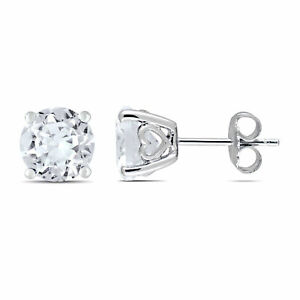 Amour-Sterling-Silver-Created-White-Sapphire-Stud-Earrings