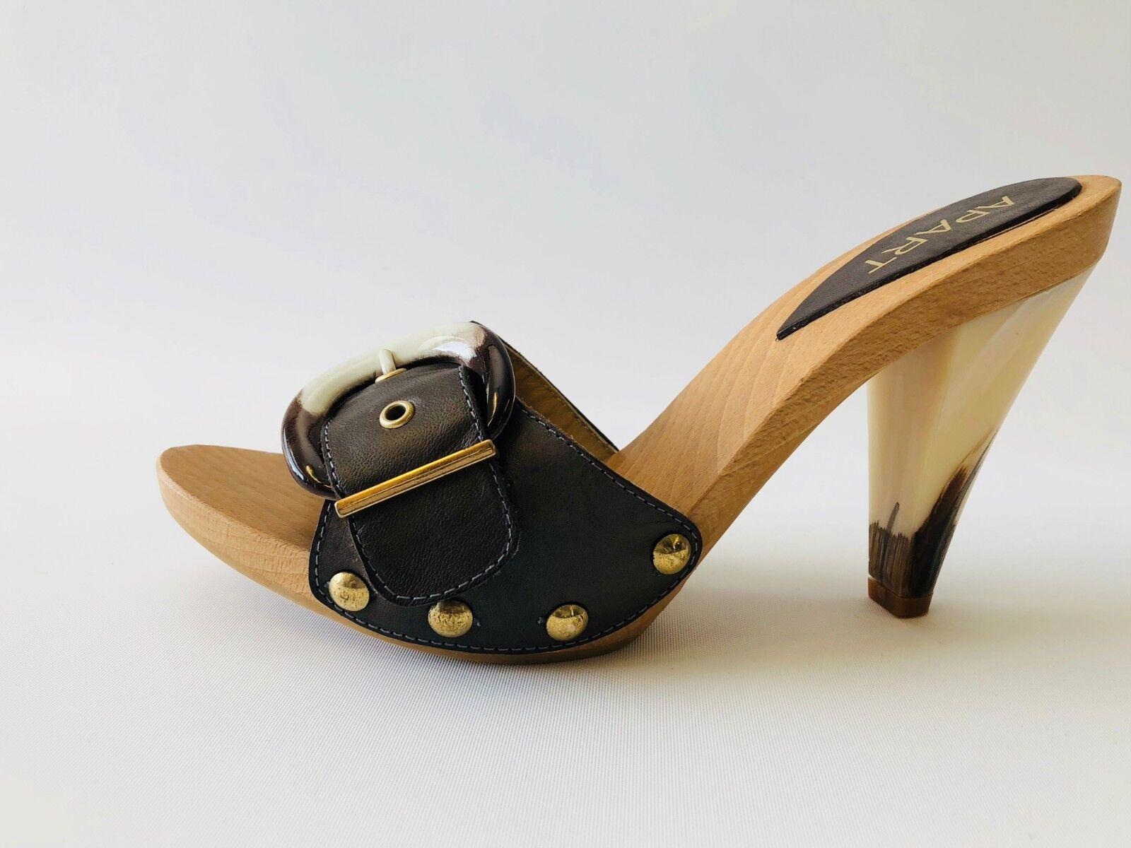 APART 370235 Pantolette Clogs 38 Damenschuhe Sandalette, Olive, EU 38 Clogs 35aa2d
