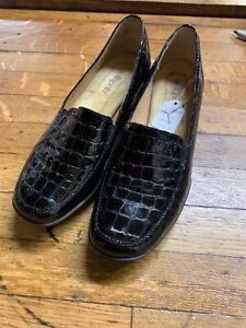 Softspots Black Patent Penny Loafers Size 7.5 | eBay
