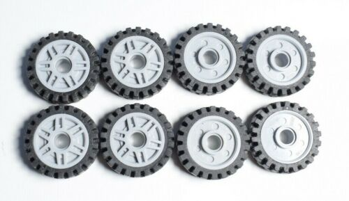 LEGO 13971 61254  Wheel and Tire JOB LOT Pack of 8