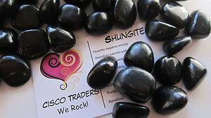 SIX-Shungite-Tumbled-Stone-Russia-15-20mm-QTY6-Healing-Crystal-Toxins-Purify