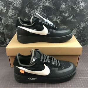 Dettagli su NIKE AIR FORCE 1 X OFF WHITE NUOVE NEW SCARPE SHOES SNEAKERS CON SCATOLA BLACK