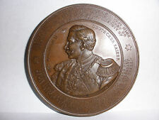 70mm Antique 19th German England Kaiser Wilhlem exhibition bronze medal W Mayer