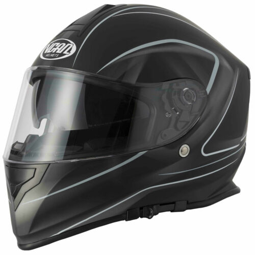 VCAN Casco Moto integrale Sportivi Crash Urbani Corsa Scooter Touring V127 LIGHT