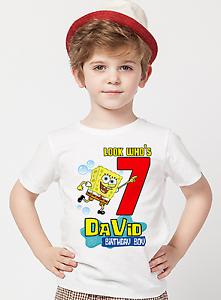 Image Is Loading Spongebob Squarepants Shirt Birthday Personalized Name And