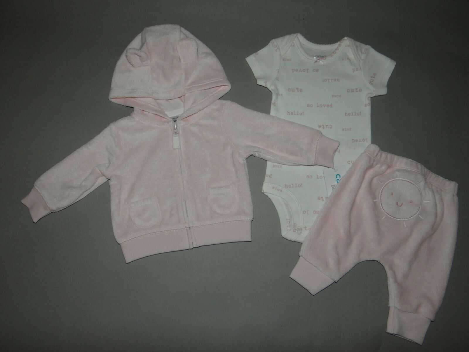 NWT, Baby girl clothes, 6 months, Carter's 3 piece set/     ~~SEE DETAIL ON SIZE