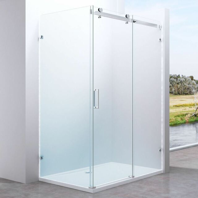 Shower Enclosure Cubicle Frameless Easyclean 1050mm Modern Sliding