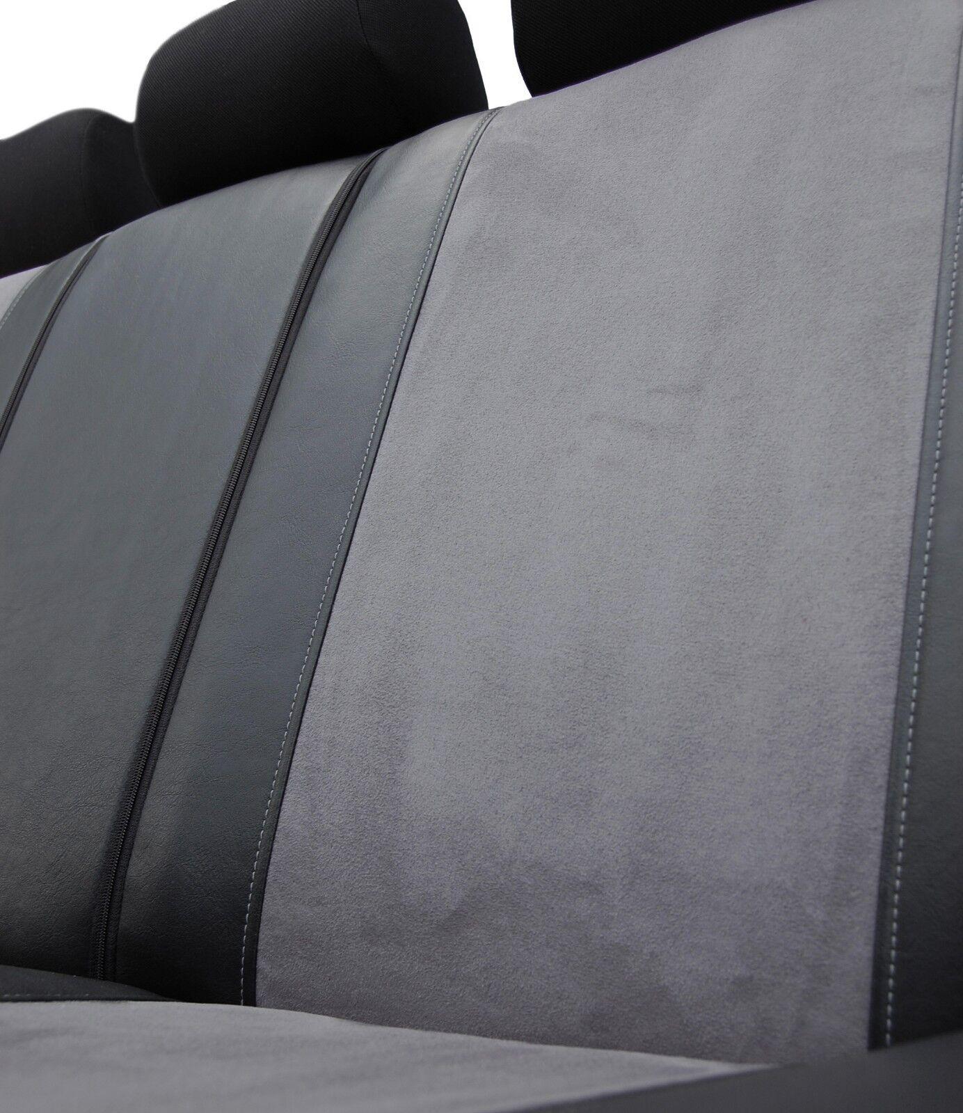 VW Passat B5//FL Kombi 1996-2005 Maß Sitzbezüge Schonbezüge Kunstleder schwarz