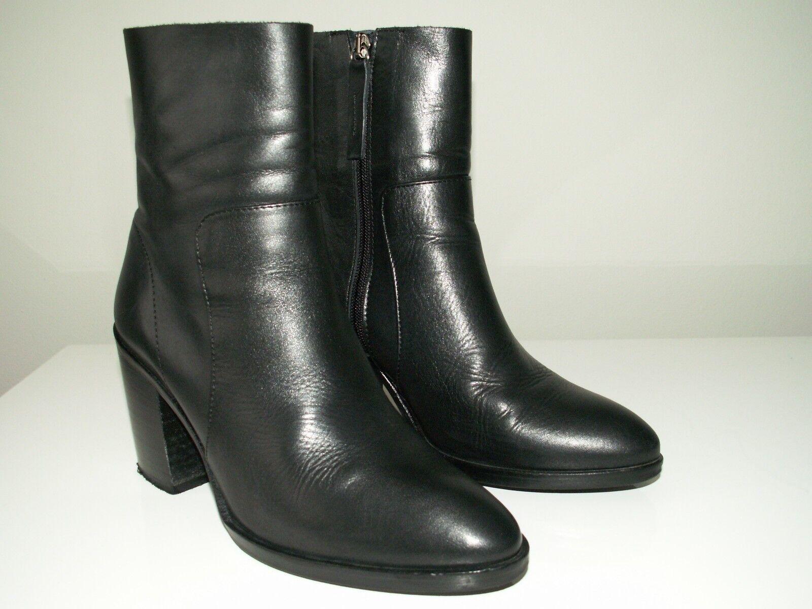 TOPSHOP 'million' black black black leather ankle sock boots uk 4 eu 37 us 6.5 f9d9da