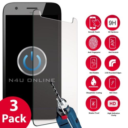For Blu Vivo 5R 3 Pack Tempered Glass Screen Protector