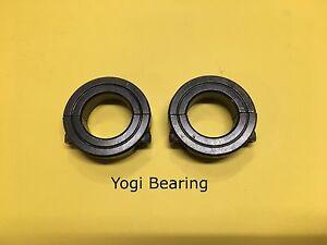 "(2pcs) 7/8"" Inch Double Split Shaft Collar - Black Oxide Finish 2SC-087 SC87D"